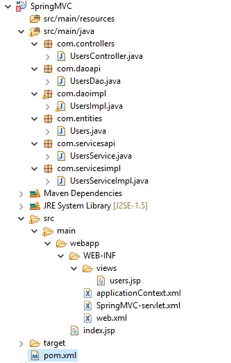 Spring MVC Config with Hibernate in Eclipse-maven-JQuery