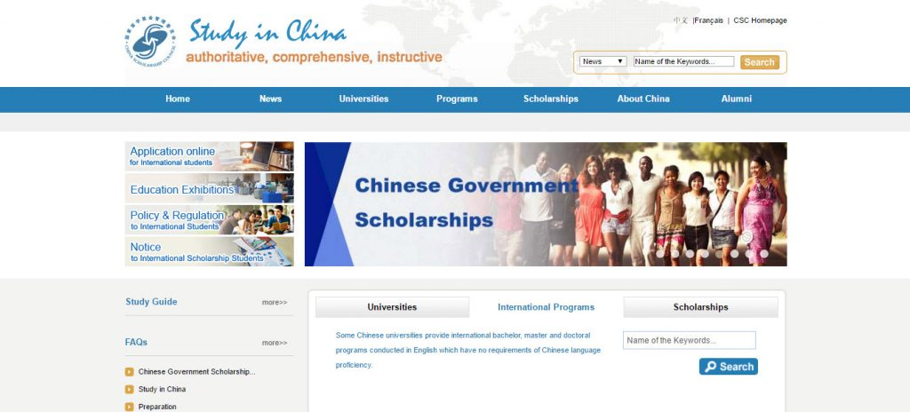 How to apply for Chinese government Scholarships