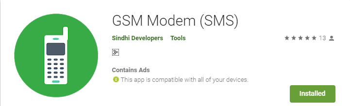 GSM Modem Free SMS Android App Send or Receive | SindhiTutorials